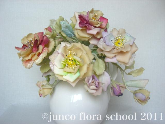 クレイ染の花